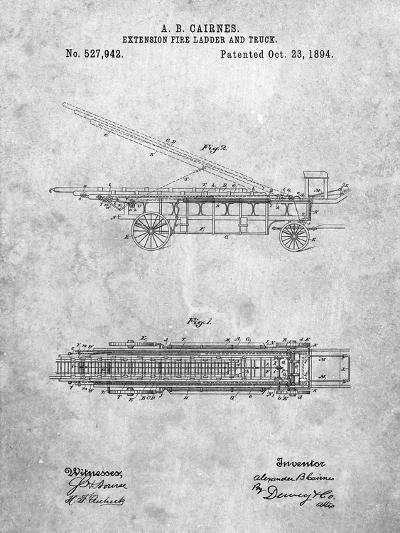 Fire Extension Ladder 1894 Patent-Cole Borders-Art Print