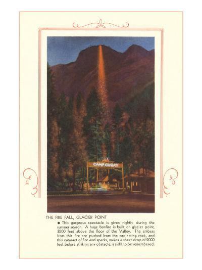 Fire Fall, Glacier Point, Yosemite--Art Print
