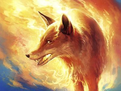 Fire Fox-JoJoesArt-Giclee Print