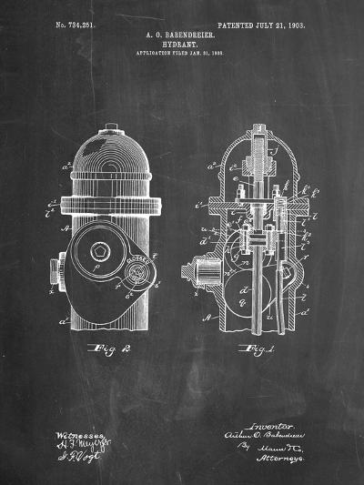 Fire Hydrant 1903 Patent-Cole Borders-Art Print