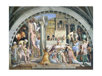 Fire in the Borgo-Raphael-Giclee Print