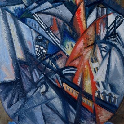 Fire in the City-Olga Vladimirovna Rozanova-Giclee Print