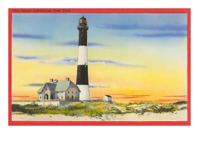 Fire Island Lighthouse, Long Island, New York--Art Print