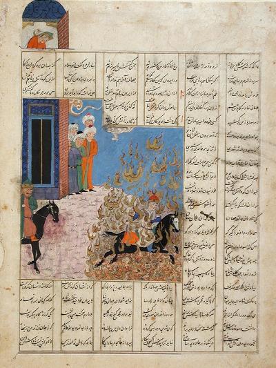 Fire Ordeal of Siyavush--Art Print