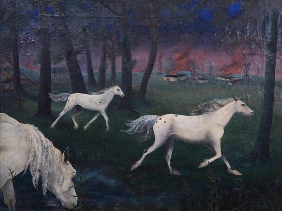 Fire, Panic, Wild Horses, 1947-Bettina Shaw-Lawrence-Giclee Print