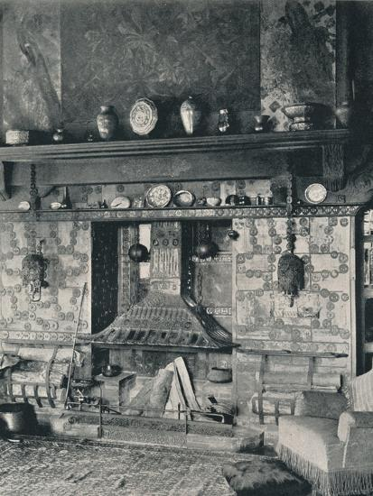 'Fire-place in the library of Mr. Louis C. Tiffany', 1897-Unknown-Photographic Print