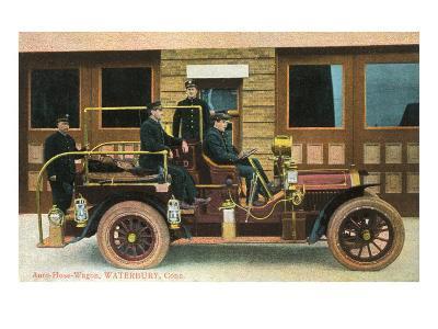 Fire Truck, Waterbury, Connecticut--Art Print