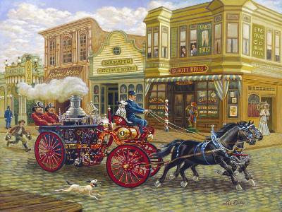 Fire Truck-Lee Dubin-Giclee Print