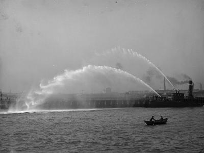 Fireboat 44 in Action--Photo