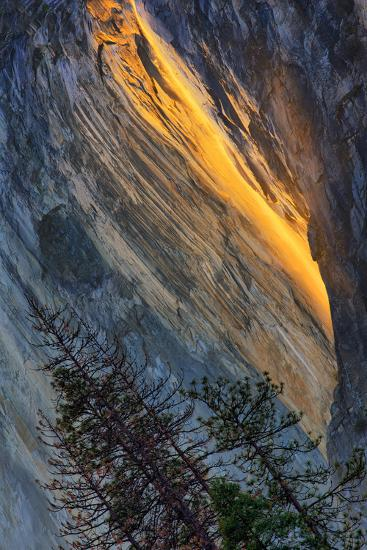 Firefall Abstract, Horsetail Falls, Yosemite National Park-Vincent James-Photographic Print