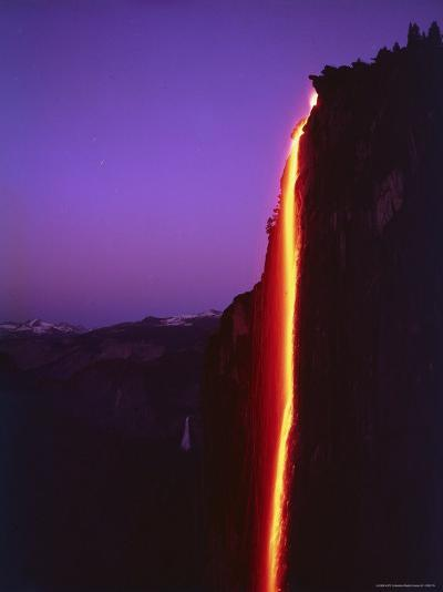 Firefall from Glacier Point at Yosemite National Park-Ralph Crane-Photographic Print