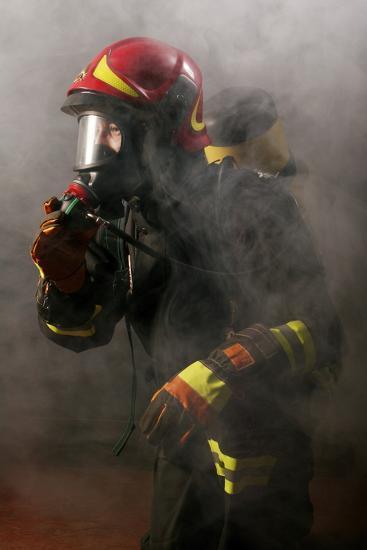 Firefighter-Mauro Fermariello-Photographic Print