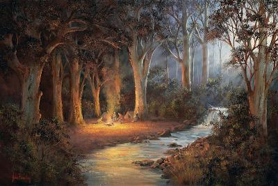 Firelight and Moonrise-John Bradley-Giclee Print