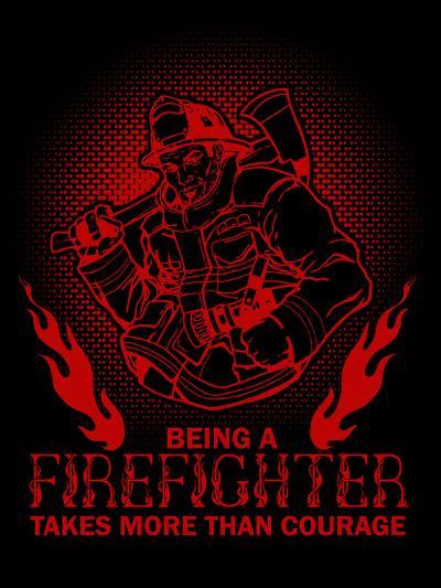 Fireman Firefighter-Wonderful Dream-Art Print