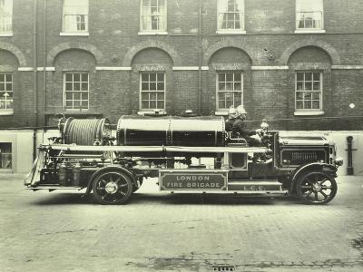 Firemen Aboard a Foam Tender, London Fire Brigade Headquarters, London, 1929--Photographic Print
