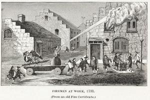 Firemen at Work, 1733, Pub. C.1887