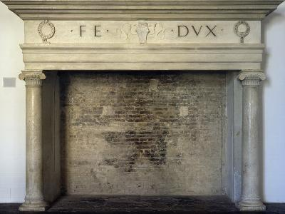 Fireplace, Detail from Throne Room, Ducal Palace, Urbino--Photographic Print