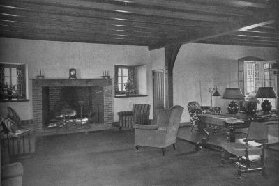 Fireplace in the dining room, Plainfield Country Club, Planfield, New Jersey, 1925--Photographic Print