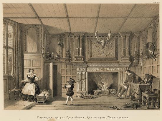 Fireplace In The Gate House Kenilworth Warwickshire Giclee Print Joseph Nash Art Com