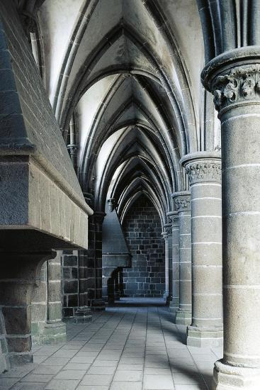 Fireplace in the Knights' Hall, Abbey of Mont-Saint-Michel--Giclee Print