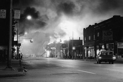 Fires Burning in Detroit during Riots