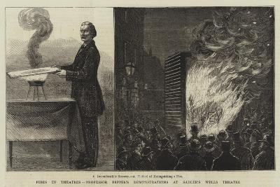 Fires in Theatres, Professor Pepper's Demonstrations at Sadler's Wells Theatre--Giclee Print