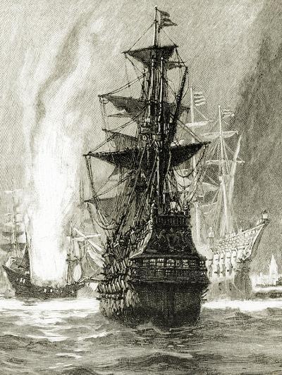 Fireships-Charles Lipa-Giclee Print