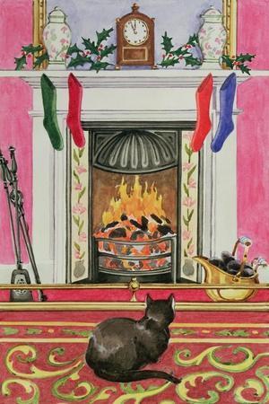 Fireside Scene at Christmas-Lavinia Hamer-Giclee Print