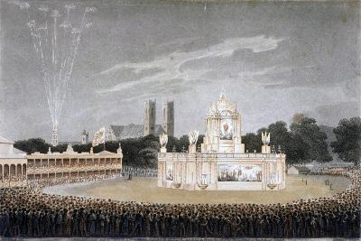 Firework Display in Green Park, Westminster, London, 1814-Matthew Dubourg-Giclee Print