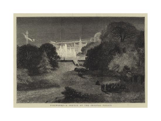 Fireworks, a Sketch at the Crystal Palace-Charles Auguste Loye-Giclee Print