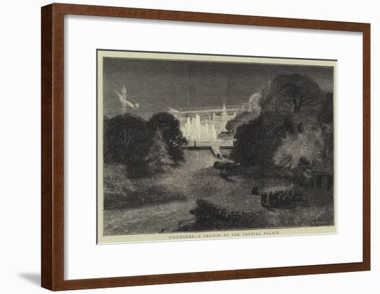 Fireworks, a Sketch at the Crystal Palace-Charles Auguste Loye-Framed Giclee Print