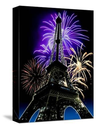 Fireworks Behind Eiffel Tower, Bastille Day