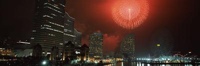 Fireworks Display in the Sky, Minato Mirai, Yokohama, Kanagawa Prefecture, Japan 2010--Photographic Print