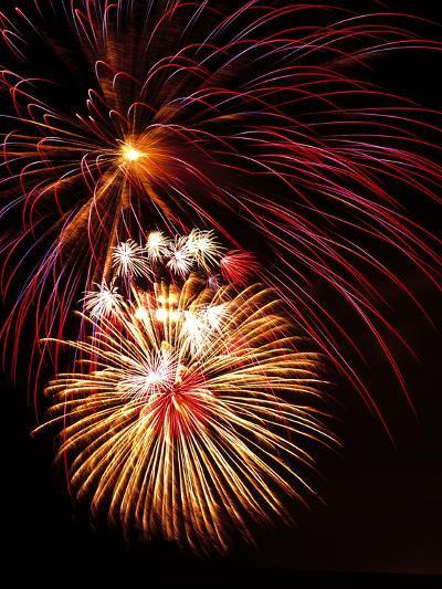 Fireworks Display-Brad Lewis-Photographic Print
