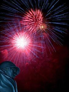 Fireworks Explode Over the Korean War Veterans Memorial