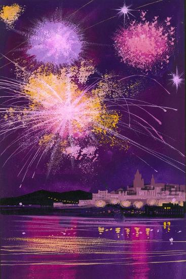 Fireworks in Malta-Angus Mcbride-Giclee Print
