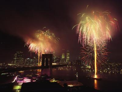 Fireworks in New York Harbor, July 4th-Medford Taylor-Photographic Print