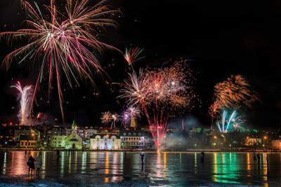 Fireworks on New Year's Eve, Reykjavik, Iceland