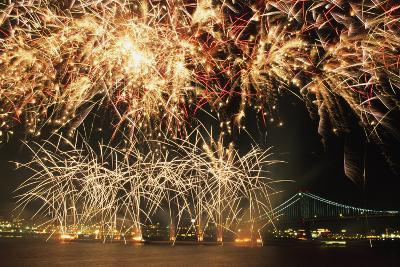 Fireworks over Harbour-Design Pics Inc-Photographic Print