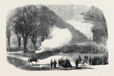 Firing Minute Guns in the Long Walk Windsor Park the Funeral of His Late Royal Highness the Prince --Giclee Print