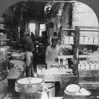 Firing Tableware in the Noted Pottery Centre, Trenton, New Jersey, USA, Early 20th Century--Photographic Print