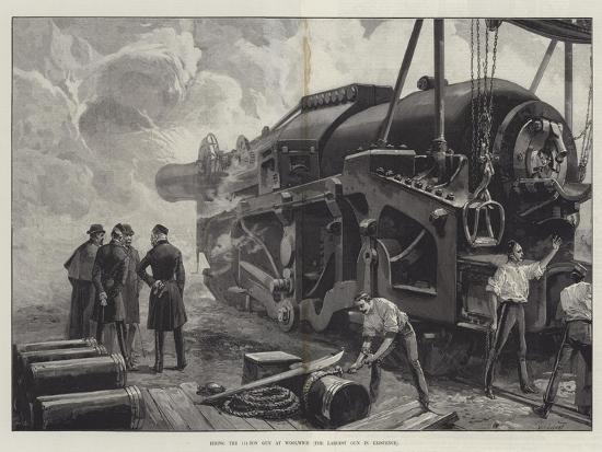 Firing the 111-Ton Gun at Woolwich-William Heysham Overend-Giclee Print