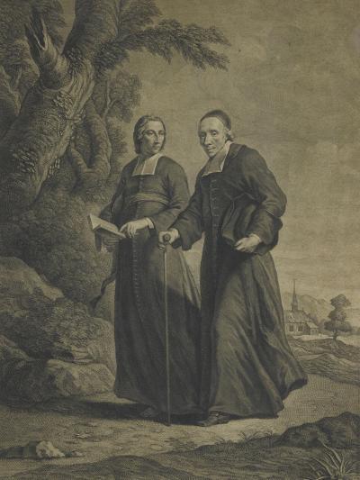 Firmin-Louis de Tournus et le diacre François de Pâris--Giclee Print