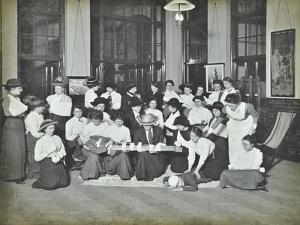 First Aid Class for Women, Montem Street Evening Institute, London, 1913