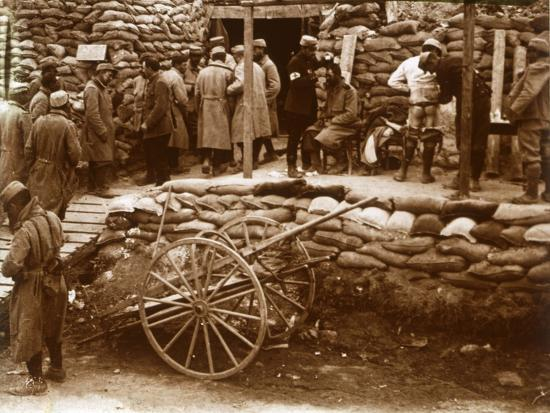First-aid post, Ablain-Saint-Nazaire, Northern France, c1914-c1918-Unknown-Photographic Print