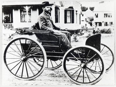 First American Automobile, Designed and Built by Charles and Frank Duryea, 1893--Giclee Print