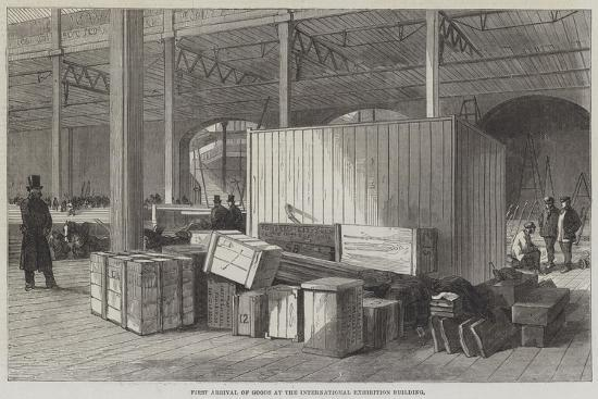 First Arrival of Goods at the International Exhibition Building--Giclee Print