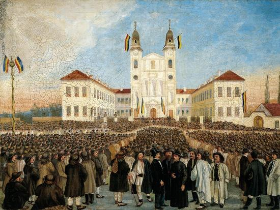 First Assembly in Blaj for Recognition of Principality of Transylvania, Romania--Giclee Print