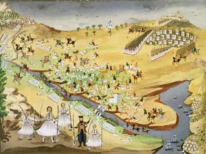 First Battle Between Greeks and Turks, at the Alamana Bridge in 1821