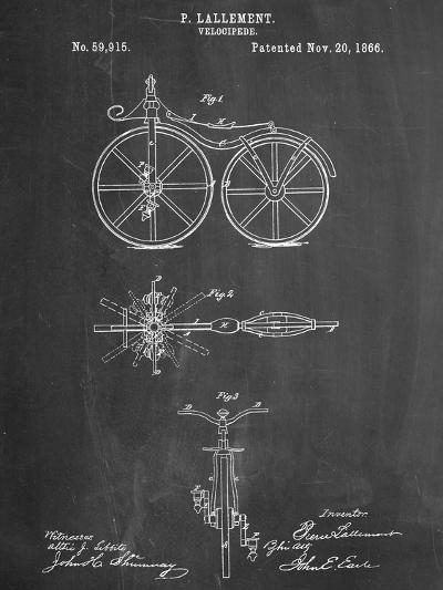 First Bicycle Patent--Art Print